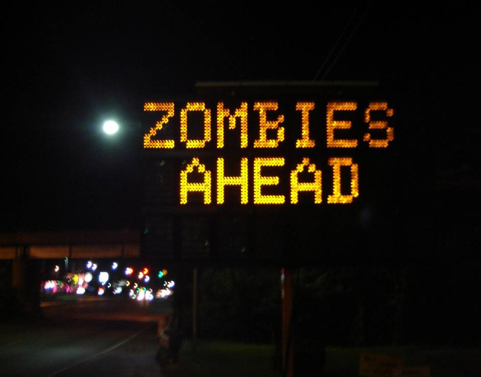Hacking road signs in the apocalypse