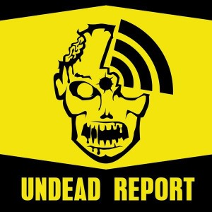 undead report logo zombie sticker area sign