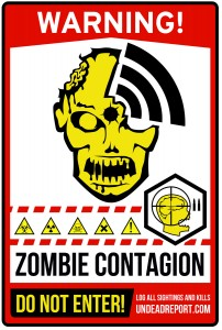 zombie area sign zombies contagion